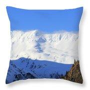 Wind Blows Over The Kenai Mountains Alaska Throw Pillow