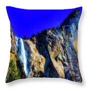 Winter Bridalveil Falls Throw Pillow