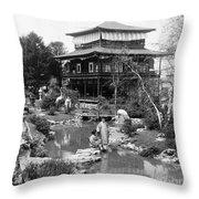 Worlds Fair Tea House Throw Pillow