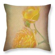 Yellow Roses Throw Pillow by Susan Leonard