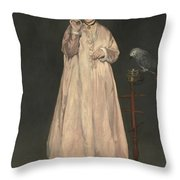 Young Lady In   Throw Pillow