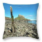 Holy Island Of Lindisfarne - England Throw Pillow
