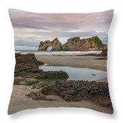 Wharariki Beach - New Zealand Throw Pillow