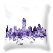 Austin Texas Skyline Throw Pillow