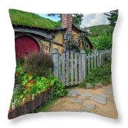 Hobbiton - New Zealand Throw Pillow