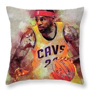 Lebron Raymone James Throw Pillow