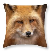 Russian Red Fox Throw Pillow