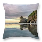 Wharariki Beach - New Zealand Throw Pillow