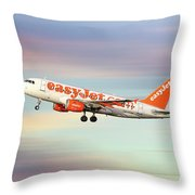 Easyjet Airbus A319-111 Throw Pillow