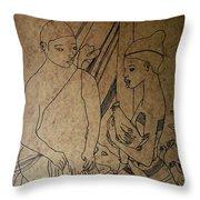 Kintu And Nambi Kintus Tasks  Throw Pillow