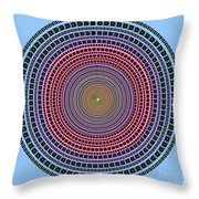 Vintage Multicolor Circle Throw Pillow