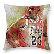 Michael Jeffrey Jordan Throw Pillow