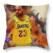 Lebron Raymone James Throw Pillow
