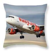 Easyjet Airbus A319-111 Throw Pillow