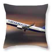 Ryanair Boeing 737-8as Throw Pillow