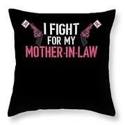 Breast Cancer Awareness Art For Warrior Women Dark Throw Pillow