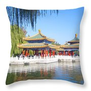 Beautiful Beihai Park, Beijing, China Photograph Throw Pillow