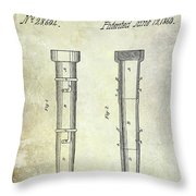 1860 Fire Hose Nozzle Throw Pillow