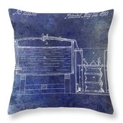 1870 Beer Preserving Patent Blue Throw Pillow