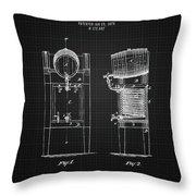 1876 Brewing Cooler - Black Blueprint Throw Pillow