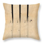 1879 Billiard Cue Antique Paper Patent Print Throw Pillow
