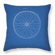 1885 Bicycle Wheel Patent Throw Pillow