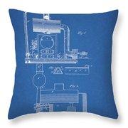 1885 Furnace Patent Throw Pillow