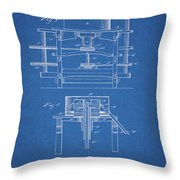 1885 Grist Mill Patent Throw Pillow