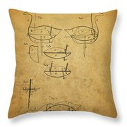1885 Hunting Decoy Patent Throw Pillow