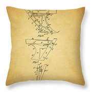 1885 Plow Patent Throw Pillow