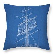 1885 Sails Patent Throw Pillow