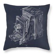 1887 Blair Photographic Camera Blackboard Patent Print Throw Pillow