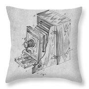 1887 Blair Photographic Camera Gray Patent Print Throw Pillow