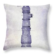 1889 Fire Hydrant Patent Blueprint Throw Pillow