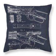 1894 Winchester Lever Action Rifle Blackboard Patent Print Throw Pillow