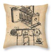 1899 Photographic Camera Patent Print Antique Paper Throw Pillow