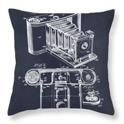 1899 Photographic Camera Patent Print Blackboard Throw Pillow