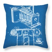 1899 Photographic Camera Patent Print Blueprint Throw Pillow