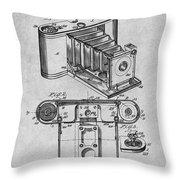 1899 Photographic Camera Patent Print Gray Throw Pillow