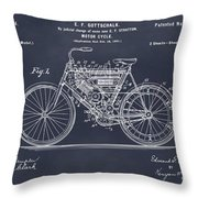 1901 Stratton Motorcycle Blackboard Patent Print Throw Pillow