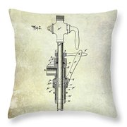 1902 Beer Patent Throw Pillow