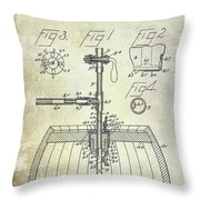 1902 Beer Tapping Device Patent Throw Pillow