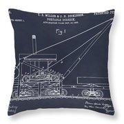 1903 Railroad Derrick Blackboard Patent Print Throw Pillow
