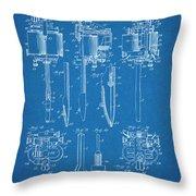 1904 Wagner Tattoo Machine Blueprint Patent Print Throw Pillow