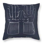 1914 Hockey Gloves Blackboard Patent Print Throw Pillow