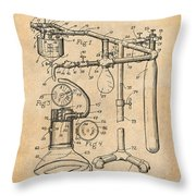 1919 Anesthetic Machine Antique Paper Patent Print Throw Pillow