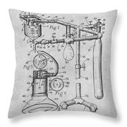 1919 Anesthetic Machine Gray Patent Print Throw Pillow