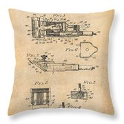 1919 Motor Driven Hair Clipper Antique Paper Patent Print Throw Pillow