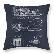1919 Motor Driven Hair Clipper Blackboard Patent Print Throw Pillow