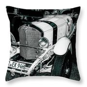 1920's Mercedes Benz Convertible Throw Pillow